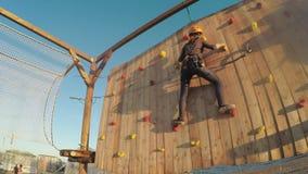 Parco della corda al festival stock footage