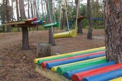 parco della corda per i giochi del ` s dei bambini Fotografie Stock Libere da Diritti