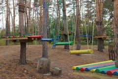parco della corda per i giochi del ` s dei bambini Fotografia Stock Libera da Diritti