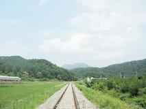Parco della ferrovia in Corea Fotografie Stock Libere da Diritti