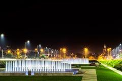 Parco della fontana a Zagabria Fotografia Stock