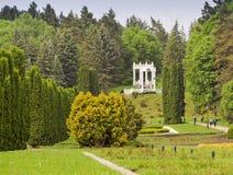 Parco della montagna della località di soggiorno di Kislovodsk Allerta sopra la valle delle rose Caucaso del nord, Fotografie Stock