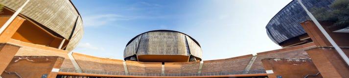 Parco della musica. Rome, Italy, april 7th, 2017: Auditorium Parco della Musica is a large multi-functional public music complex designed by Italian architect Stock Image