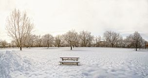 Parco della neve Fotografie Stock