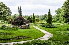 Parco della primavera nella pianta Fotografia Stock