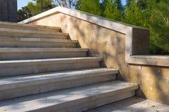 Parco della regione montana della città di Bacu, scale Fotografie Stock Libere da Diritti