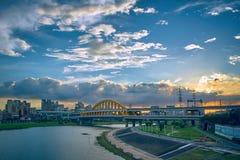 Parco della riva del fiume di CaiHong fotografia stock libera da diritti