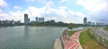 Parco della riva del fiume di Kallang Fotografia Stock Libera da Diritti