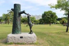 Parco della scultura di Gongjicheon in Corea Fotografie Stock Libere da Diritti