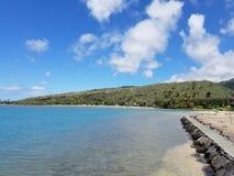 Parco della spiaggia della baia di Maunalua Immagine Stock