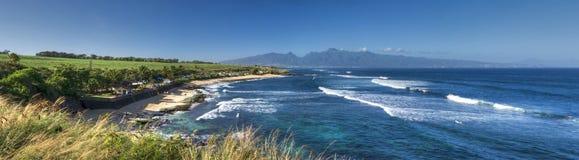 Parco della spiaggia di Ho'okipa, riva del nord di Maui, Hawai Fotografia Stock Libera da Diritti