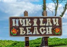 Parco della spiaggia di Hukilau Fotografia Stock Libera da Diritti