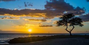 Parco della spiaggia di Kalanianaole, Hawai Immagini Stock Libere da Diritti