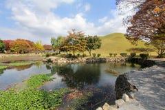 Parco della tomba di Daereungwon in Gyeongju, Corea immagine stock