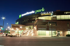 Parco di Ameritrade a Omaha del centro Fotografia Stock Libera da Diritti