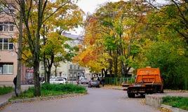 Parco di autunno in Vyborg, Russia Fotografia Stock Libera da Diritti