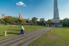 Parco di Bandula, Yangoon, Rangoon, Myanmar Fotografia Stock Libera da Diritti