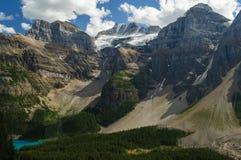 Parco di Banff Canada Naitonal del lago moraine soleggiato Fotografie Stock