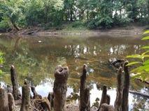 Parco di battaglia del fiume del catrame fotografie stock