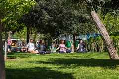 Parco di Bebek a Costantinopoli, Turchia Fotografie Stock