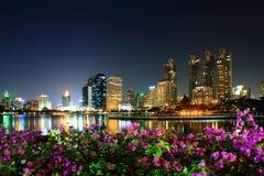 Parco di Benjakiti a Bangkok Fotografia Stock