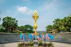 Parco di Benjakiti a Bangkok, Tailandia fotografia stock