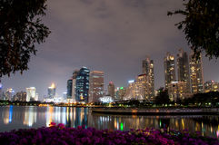 Parco di Benjakiti in Bankok, Tailandia Immagini Stock Libere da Diritti