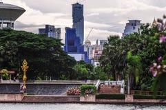 Parco di Benjakitti a Bangkok Fotografia Stock