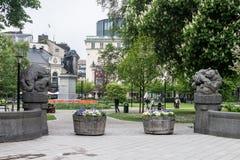 Parco di Berzelii a Stoccolma Fotografia Stock