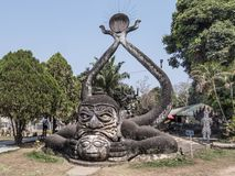 Parco di Buddha, Vientiane immagini stock libere da diritti