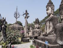 Parco di Buddha, Vientiane fotografia stock libera da diritti