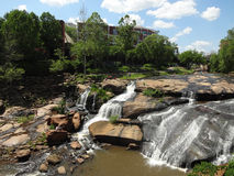 Parco di cadute sull'acuto a Greenville, Sc Fotografie Stock