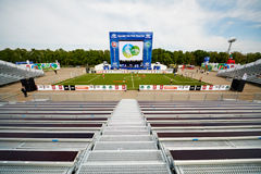 Parco di calcio con l'anfiteatro Fotografia Stock Libera da Diritti