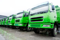 Parco di camion Immagini Stock Libere da Diritti