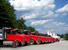 Parco di camion Fotografia Stock Libera da Diritti