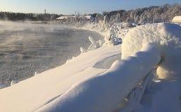 Parco di cascate del Niagara a febbraio Fotografie Stock