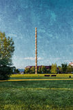 Parco di Coloana Infinitului in Targu Jiu Romania immagini stock