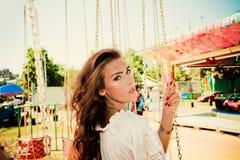 In parco di divertimenti Fotografia Stock