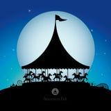 Parco di divertimenti alla notte Fotografia Stock