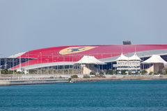 Parco di divertimenti del mondo di Ferrari in Abu Dhabi Fotografia Stock Libera da Diritti
