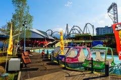 Parco di divertimenti dell'altopiano di Fuji-q Immagine Stock