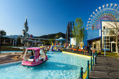 Parco di divertimenti dell'altopiano di Fuji-q Immagini Stock Libere da Diritti