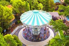 Parco di divertimenti di Tibidabo, Barcellona Fotografie Stock Libere da Diritti