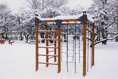 Parco di divertimenti ghiacciato Immagine Stock