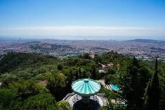 Parco di divertimenti di Mt Tibidabo - Barcellona fotografia stock