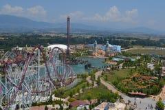 Parco di divertimenti visto da sopra Immagine Stock