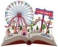 Parco di divertimento in libro di pop-up illustrazione di stock