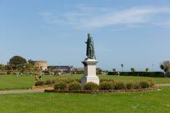 Parco di Eastbourne e statua East Sussex Inghilterra Regno Unito fotografia stock