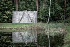 Parco di europa, piramide della doppia negazione, Lituania da Sol Lewitt Fotografia Stock