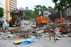 Parco di gezi di Costantinopoli delle strade di pulizia del comune Fotografia Stock Libera da Diritti